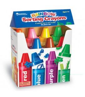 Rainbow Sorting Crayons