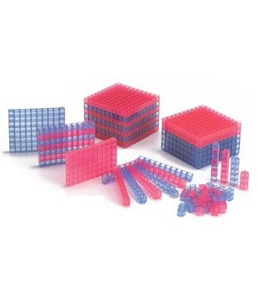 Interlocking Transparent Base 10 Set - Starter Set