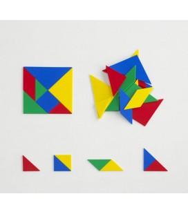 Tangrams Plastic 4 sets